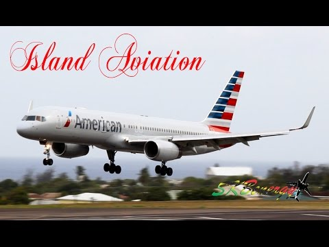 American Airlines 757-200, 737-800 and others @ St. Kitts (HD 1080p)