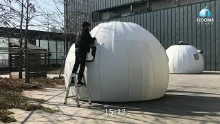 이지돔하우스 조립설치 시연 1분 영상 (30배속)