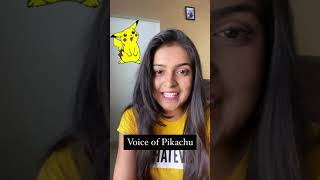 Voice of Pikachu || Youtube Shorts