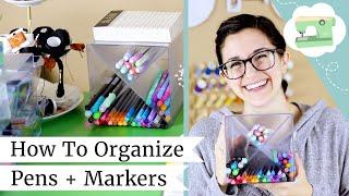 Organizing Pens and Markers - My New Desk Setup! | @laurenfairwx