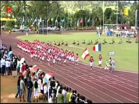 Ouverture des 9 émes Mini Jeux du Pacifique sud    Tahiti   Tonga   Tuvalu MSM travel