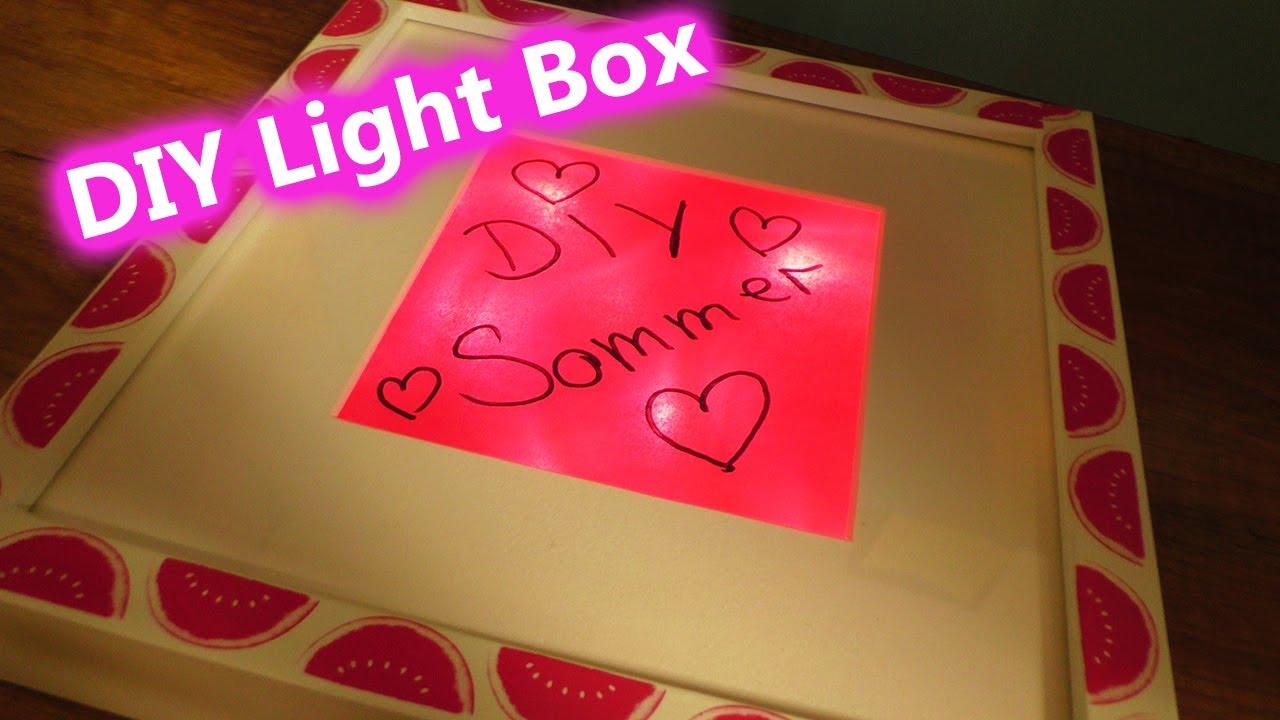 DIY Light Box   Ikea Livehack Trend Idee   Sommer Deko selber machen ...