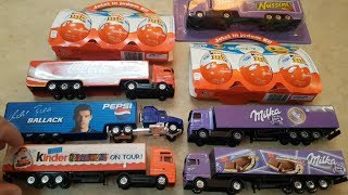 Kinder Joy Surprise Eggs and Kids Trucks for Children