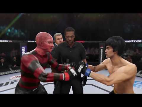 Freddy Krueger vs. Bruce Lee EA Sports UFC 3  CPU vs. CPU