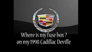 1998 Cadillac Deville - 1998 Cadillac Deville problems - wheres my fuse box  - YouTube | 1998 Cadillac Deville Fuse Box Location |  | YouTube