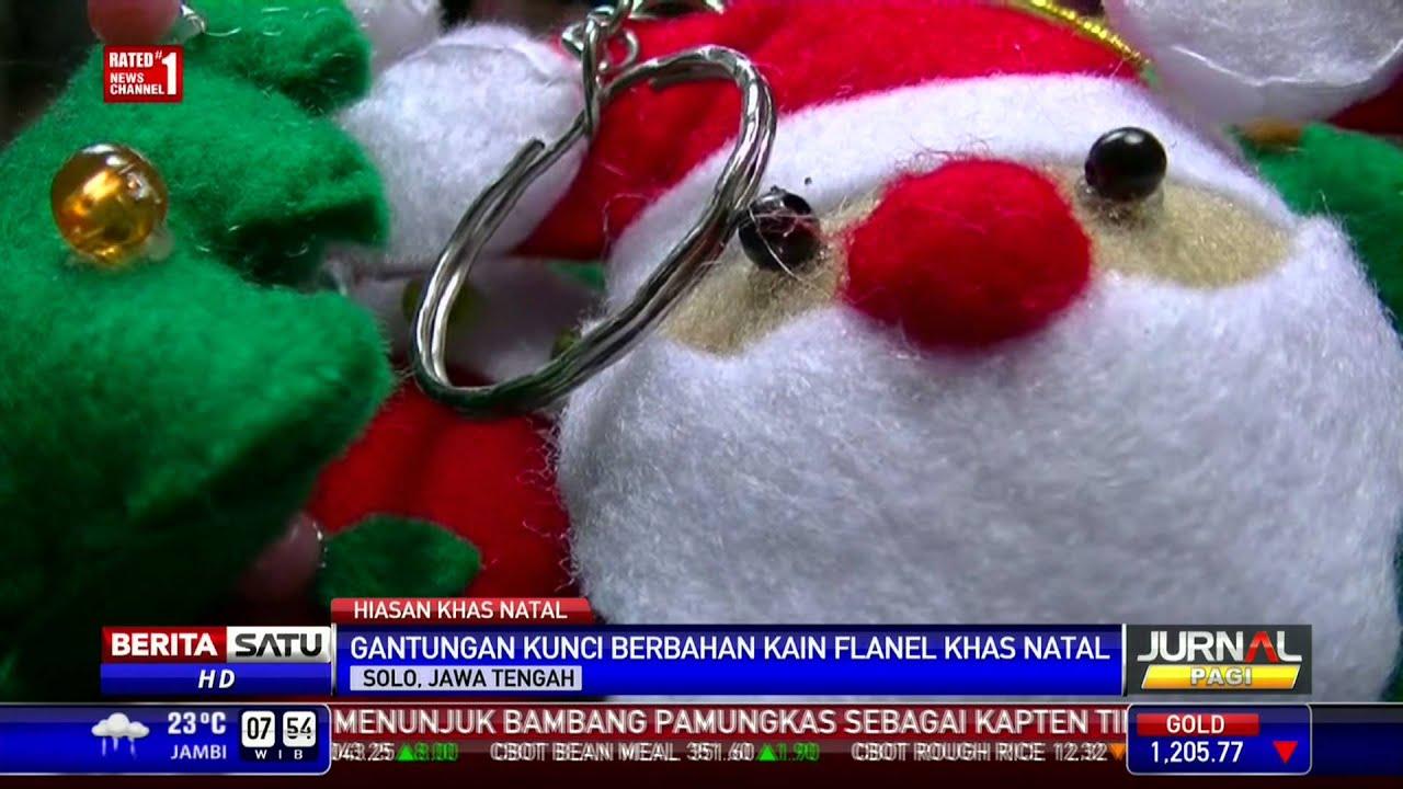 Warga Solo Buat Hiasan Natal dari Kain Berbahan Flanel