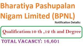 BPNL Recruitment 2018-2019 Notification | Apply Online 16,601 BPNL Jobs Vacancy