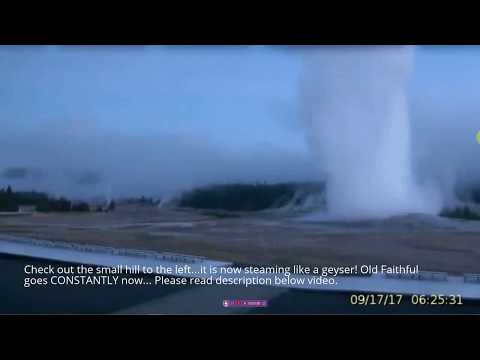 Yellowstone: Old Faithful Not Stopping/Hill Beginning To Steam Like A Geyser/Plz Share!