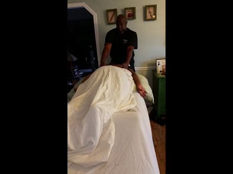 How to massage a woman with  macromastia