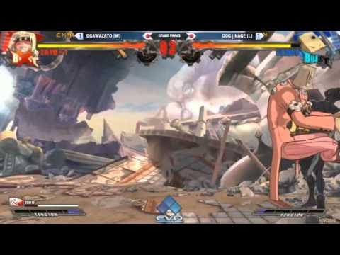 EVO 2015 - Guilty Gear XRD TOP 8 Grand Finals ogawazato vs Nage |