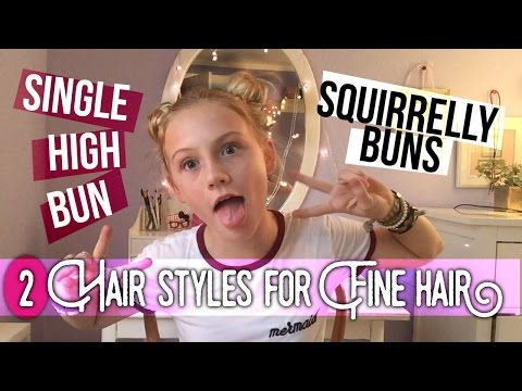 HAIRSTYLES FOR FINE OR THIN HAIR, high bun, space buns