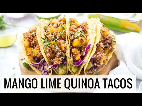 Mango Lime Quinoa Tacos | VEGAN + GLUTEN-FREE