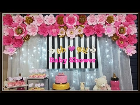 How To Make A Flower Backdrop For Baby Shower