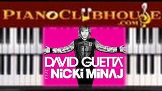 ♫ How to play HEY MAMA by David Guetta, Nicki Minaj (easy piano tutorial lesson)
