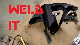 Do-it-yourself plastic welding - A how to fix your smashed stuff