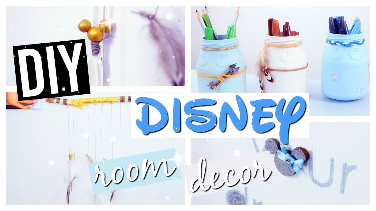diy deco chambre facile disney room decor fran ais youtube. Black Bedroom Furniture Sets. Home Design Ideas
