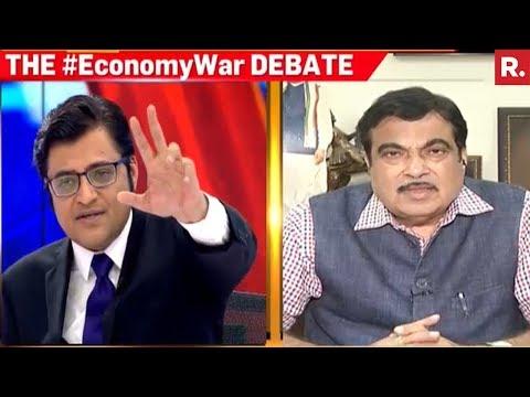 Nitin Gadkari Speaks To Arnab Goswami On Yashwant Sinha's Remarks