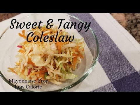4 ingredient tangy coleslaw