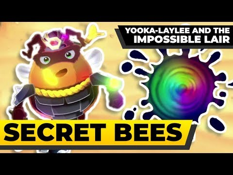 YOOKA-LAYLEE AND THE IMPOSSIBLE LAIR - All Secret Exits and Overworld Bees  