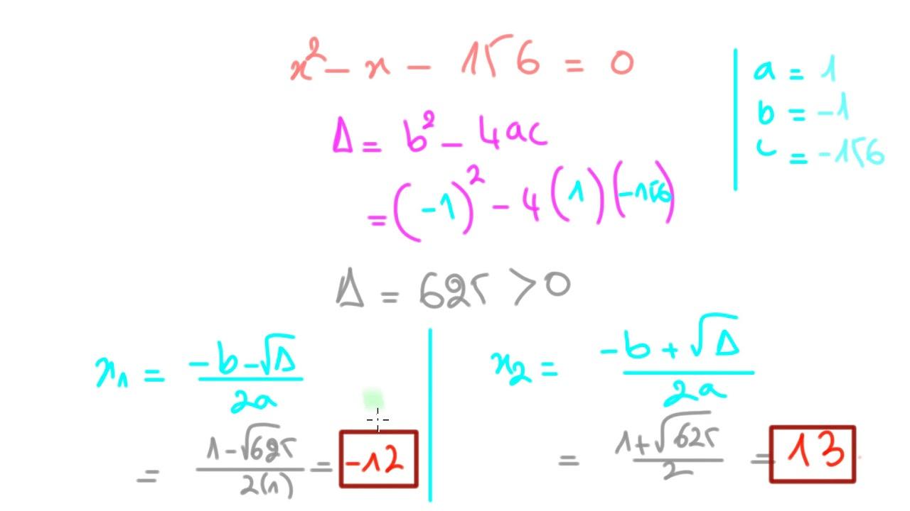 Comment Résoudre des problèmes à l'aide des équations du seconde degré 1ere S - YouTube