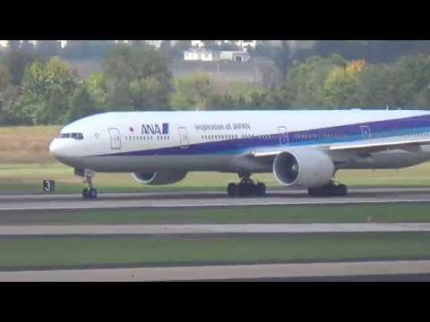 ANA Boeing 777-300ER taking off from Washington Dulles International airport