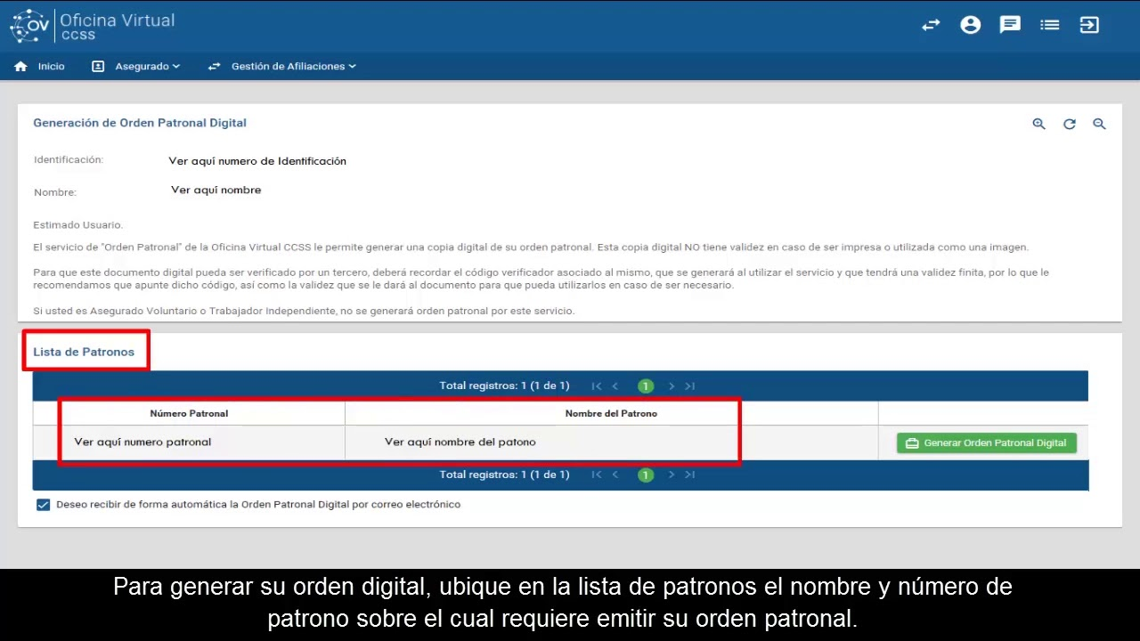 Nueva oficina virtual ccss c mo obtener su orden for Linea duero oficina virtual