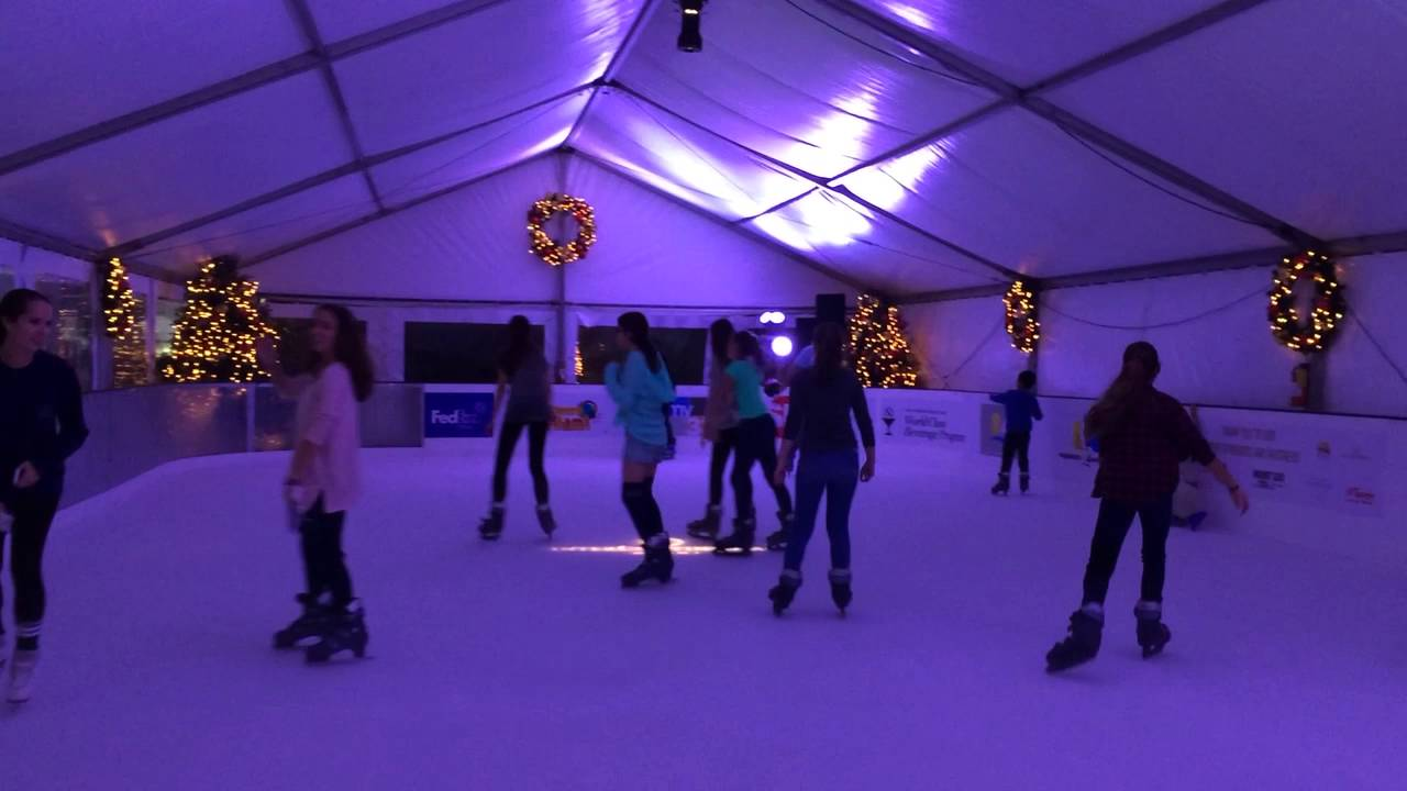 outdoor ice skating in miami youtube
