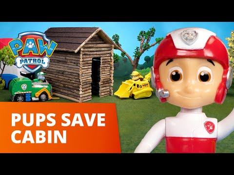 Humdinger's Frog Log Cabin! 🐸 PAW Patrol Toy Pretend Play Rescue