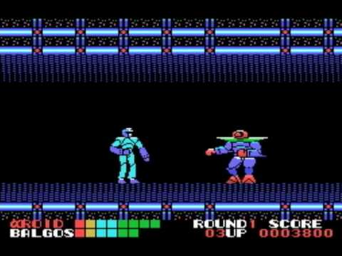 MSX GAME ◀AlphaRoid, αROID, アルファロイド▶ Round1 PLAY