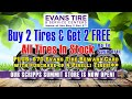 Evans Tire & Service Centers - Buy 2 Get 2 on ALL Tires in Stock* + $70 Evans Rebate! 15