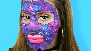 DIY Galaxy Slime Peel Off Face Mask!