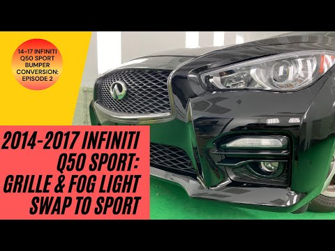 How to Replace 2014-2017 Infiniti Q50 Fog Light & Grille | Q50S Sport Black Grille (2 of 3)