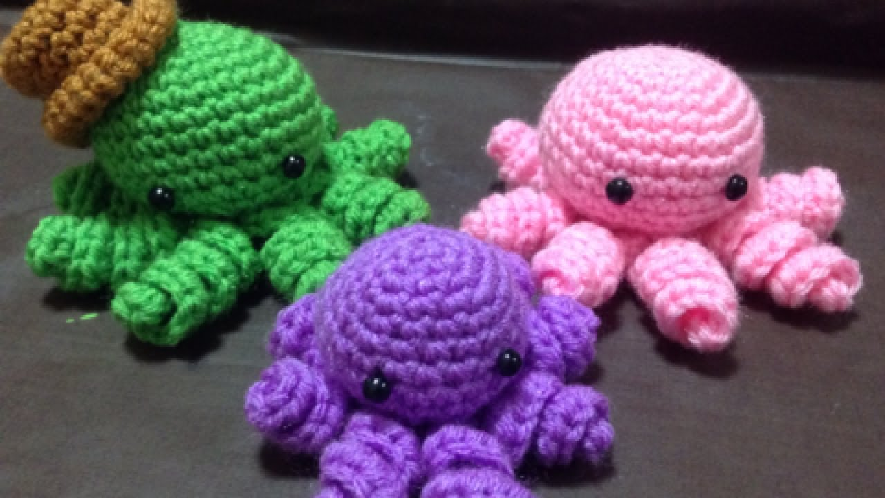 Easy Amigurumi Octopus : How to crochet a mini amigurumi octopus diy crafts tutorial