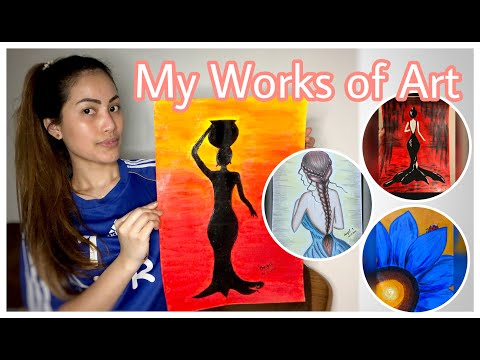 QUARANTINE BASIC ACRYLIC PAINTING / PINAY VLOGS LEBANON #BASICACRYLICPAINTING #QUARANTINEARTS #ARTS