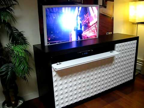 ibermat meuble 39 pop up 39 tv youtube. Black Bedroom Furniture Sets. Home Design Ideas