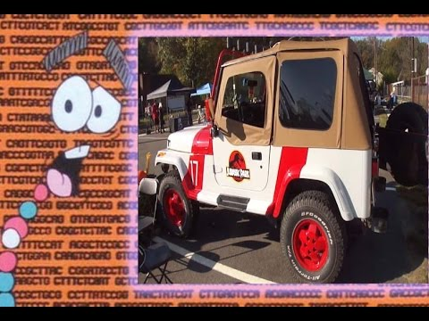 1992 jurassic park jeep wrangler sahara yj walk around - youtube