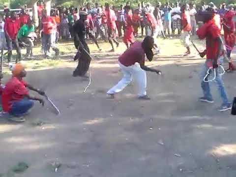 Haitian Voodou Cultural Machetes fight.