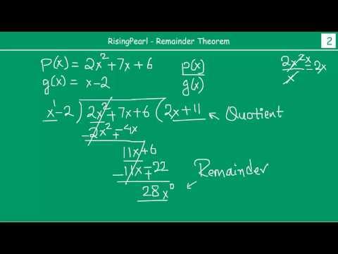 Polynomials - Remainder Theorem (1 Of 3)