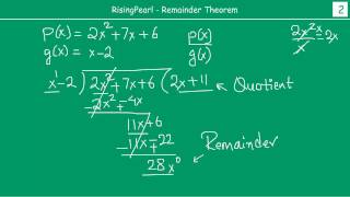 Polynomials - Remainder Theorem  1 Of 3