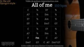 All of Me (150 bpm) - Gypsy jazz Backing track / Jazz manouche