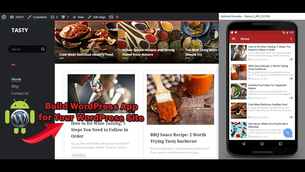 Create Wordpress Android App in 15 Minutes