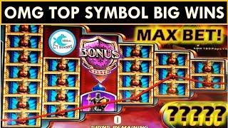 THE KNIGHT SAVES THE DAY! TWO SUPER BIG WINS! Knight's Keep Slot Machine, Zeus III, WMS SLOTS!