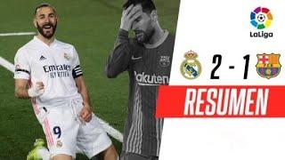 ¡EL MERENGUE SE QUEDÓ CON UN CLÁSICO INOLVIDABLE! | Real Madrid 2-1 Barcelona | RESUMEN