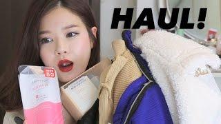 HAUL (Korean cosmetics, clothes) 최근 구입한 옷,화장품들~ Thumbnail