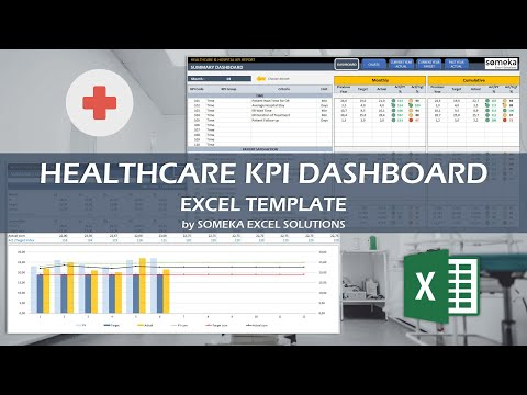 Healthcare KPI Dashboard Excel Template   23 Key Metrics for Healthcare Industry