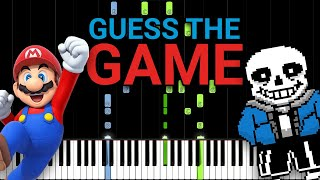 Guess the Game! Can You Guess All Video Games? (25 Video Games Piano Quiz)