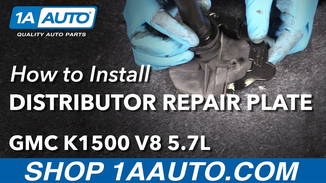 How To Install Distributor Repair Plate 96 99 Gmc K1500 V8 57l Besides Chevy 4 3 Timing Marks On 95 5 7 Vortec Engine Diagram