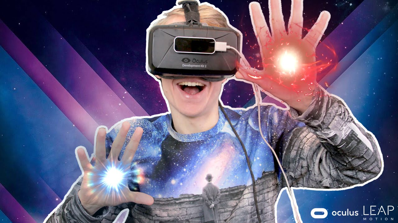 CAST VIRTUAL SPELLS WITH YOUR HANDS! | Warlock VR (Oculus Rift DK2 + Leap Motion)