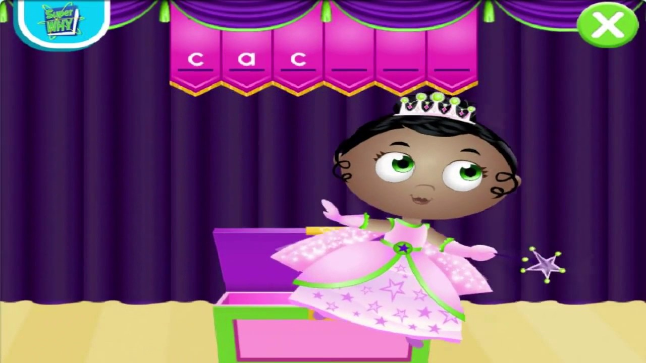 Super Why! Games Princess Presto's Spectacular Spelling