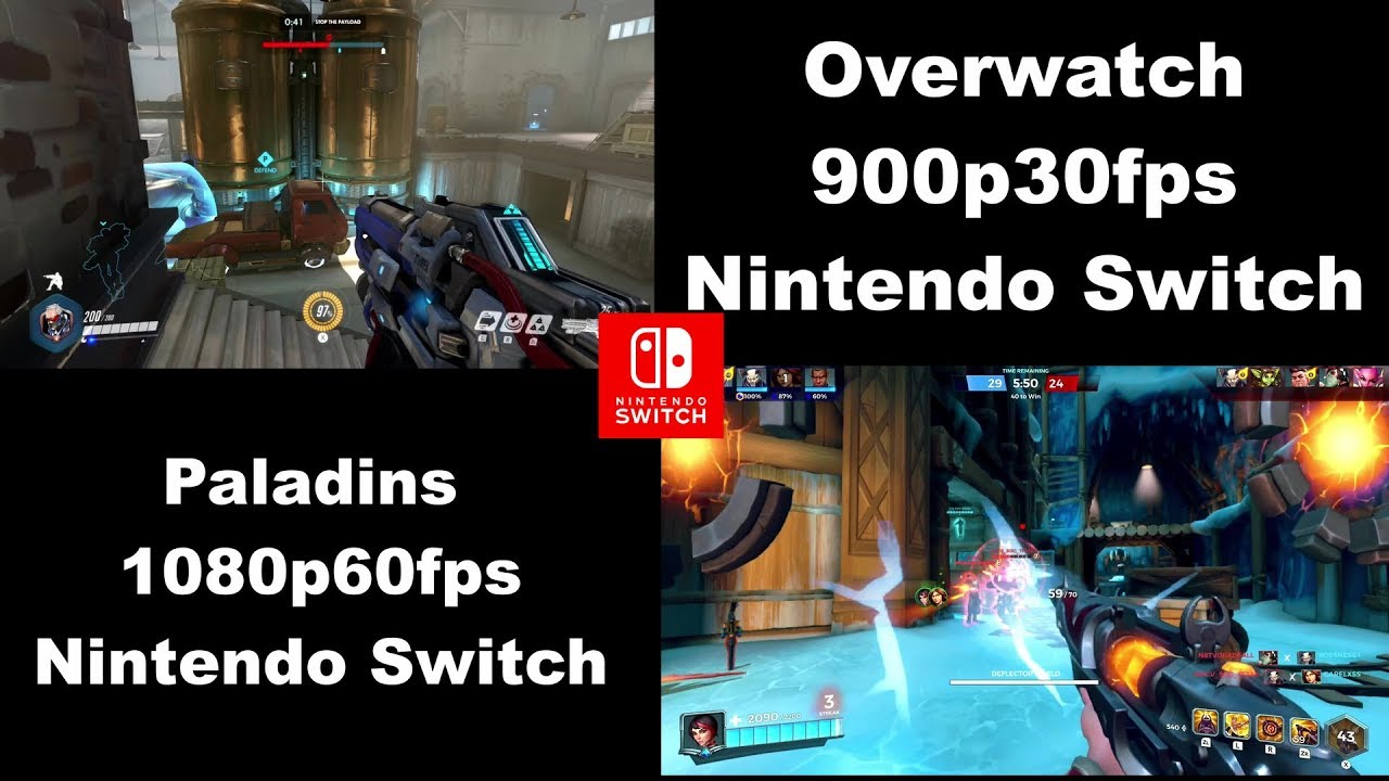 COMPARISON: Overwatch vs Paladins (Nintendo Switch)